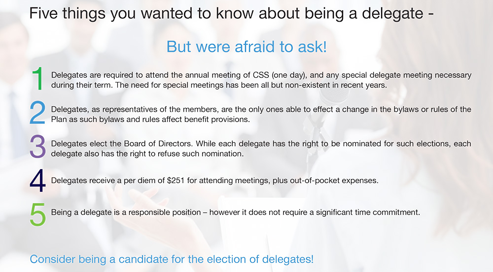 Five things you should know about being a delegate